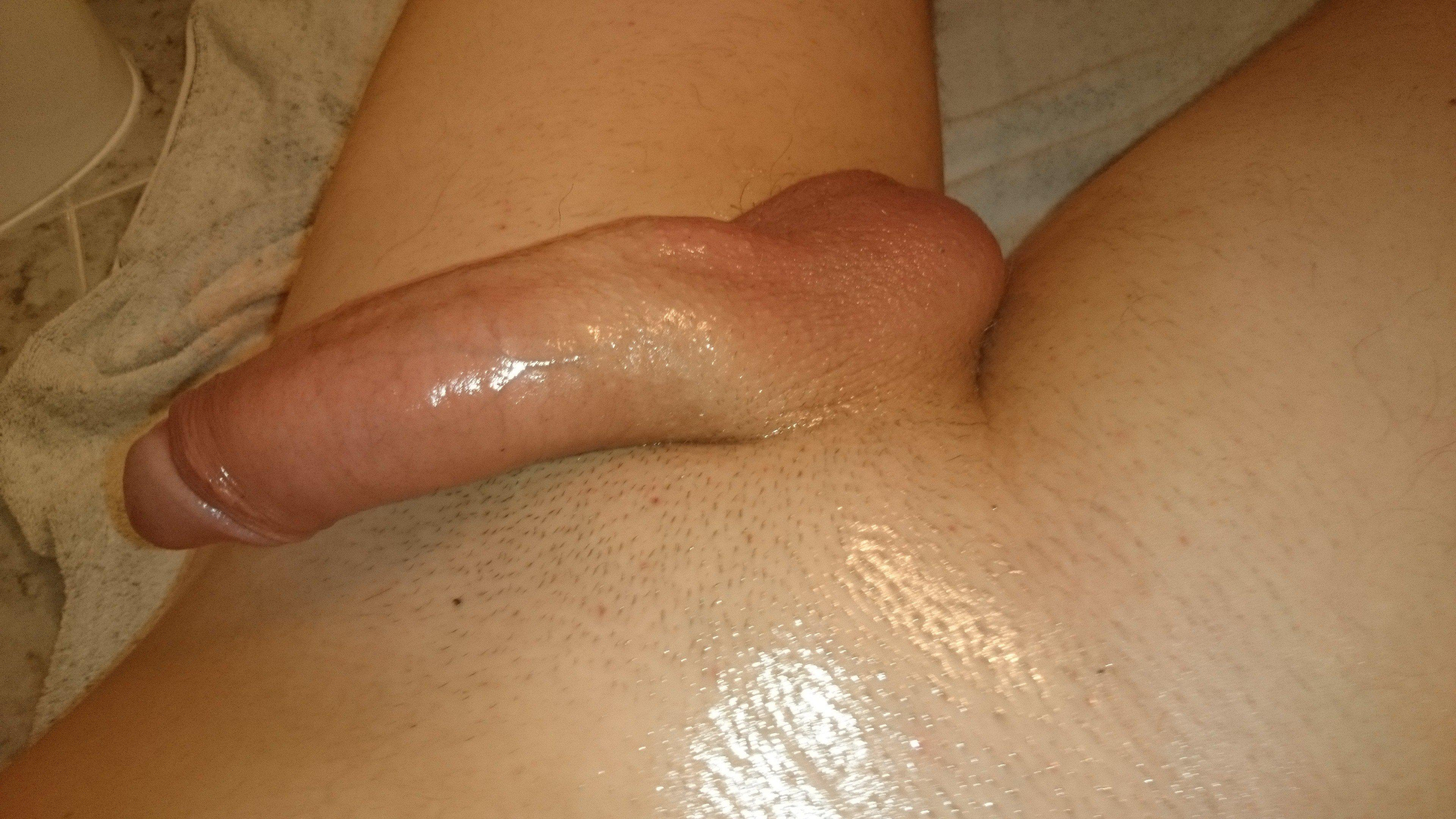 Huge shaved dick