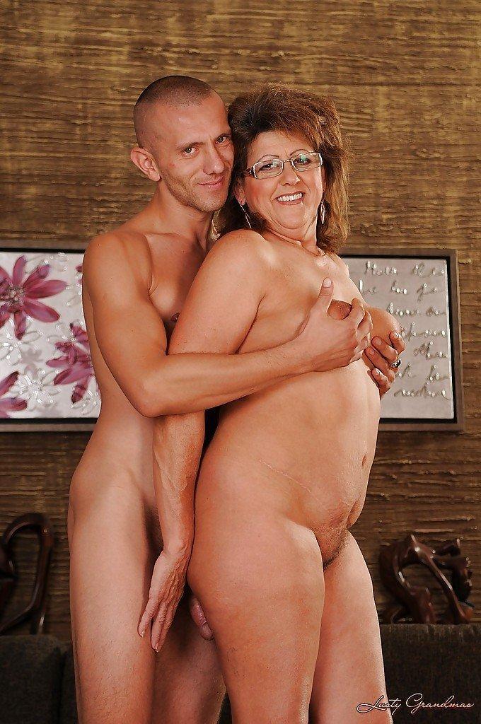 Older woman legs spread