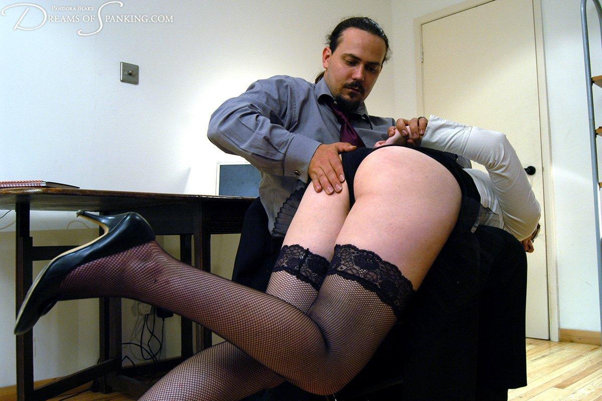 Waistband of her pantyhose spank
