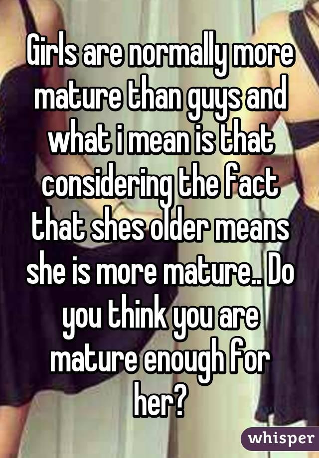 best of More than Girls guys mature