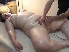 Grandma pussy massage