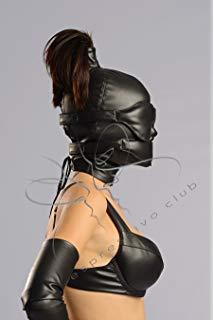 Woman bending forward naked