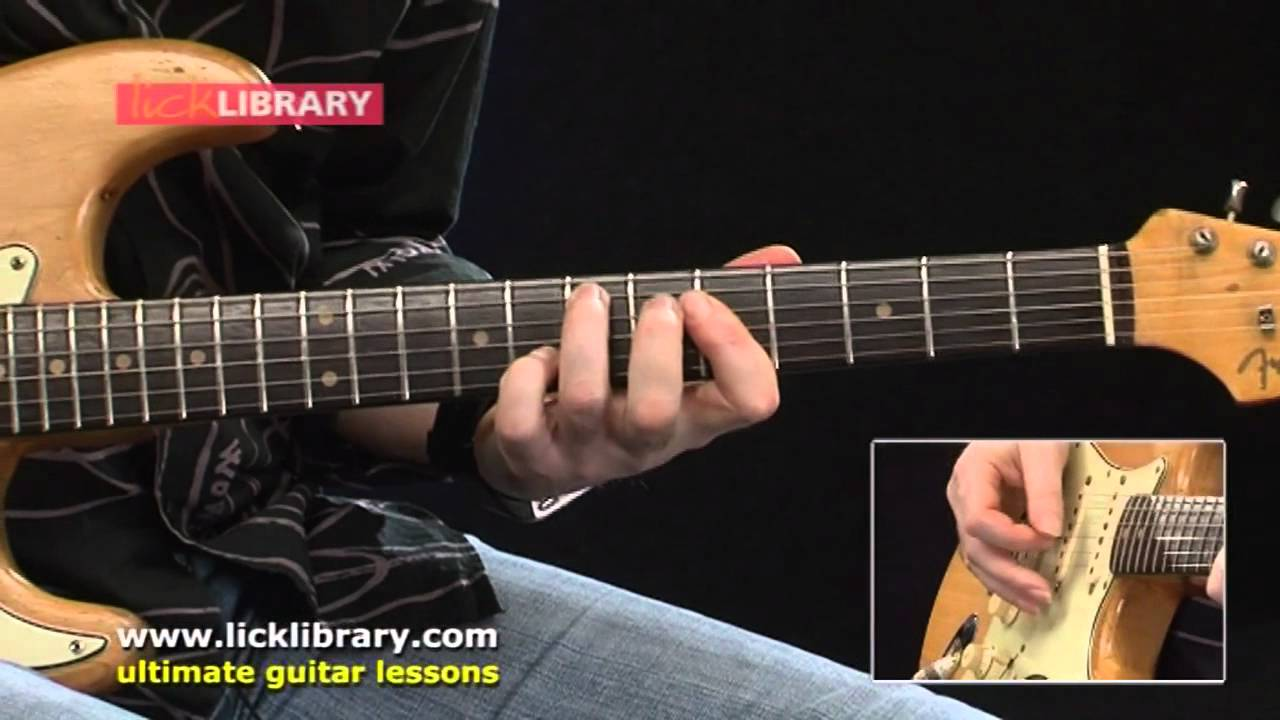 Library guitar lick