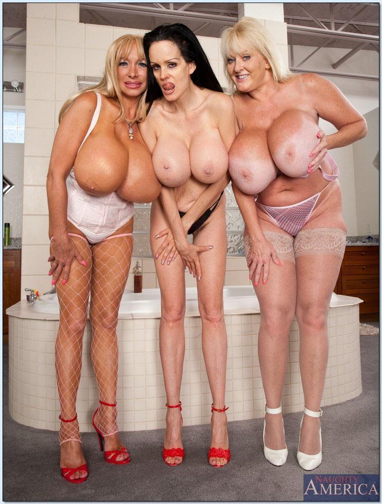 Huge tits mature orgy
