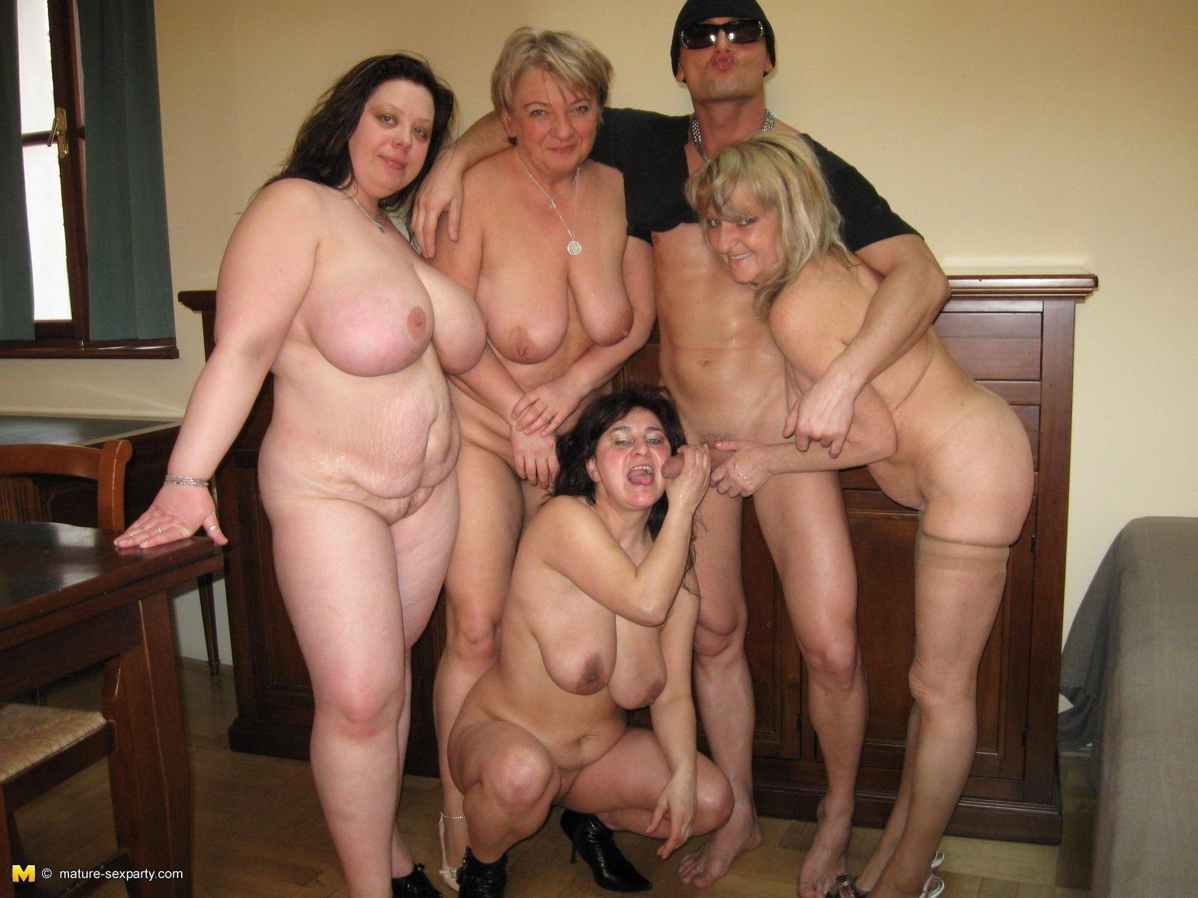 Mature housewife orgy