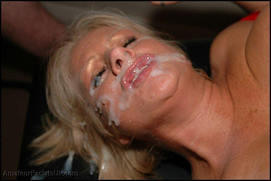 Bukkake mature woman
