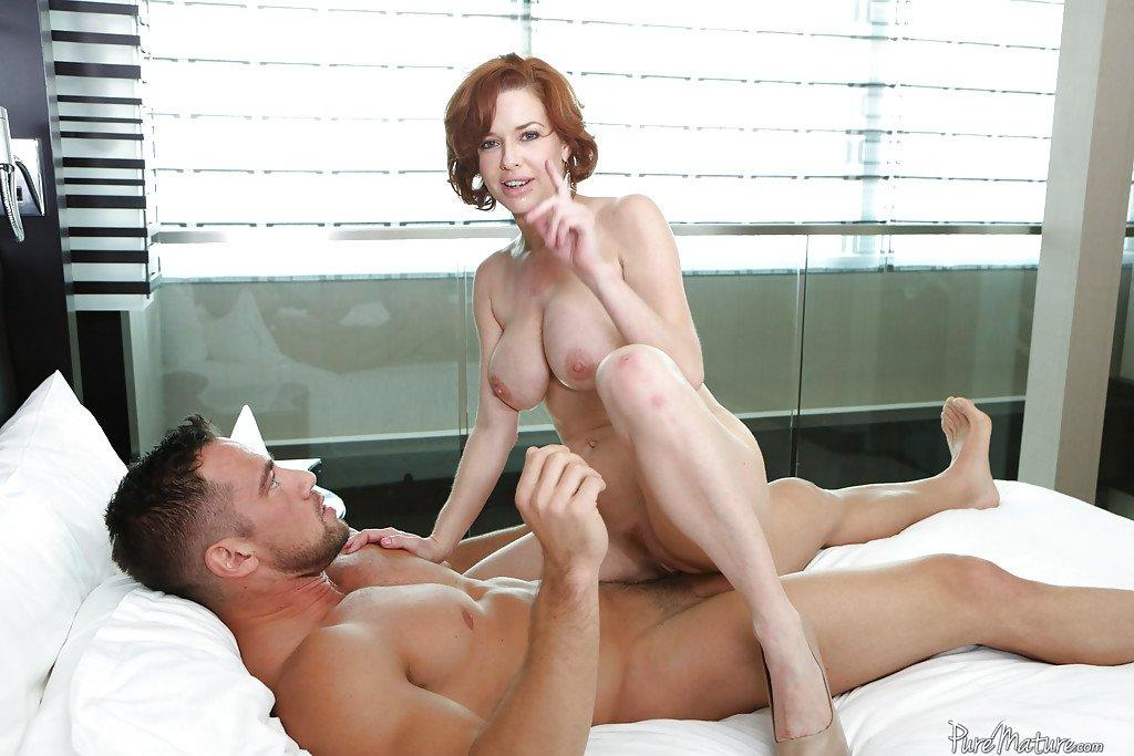 Hot busty milf gets cream pie