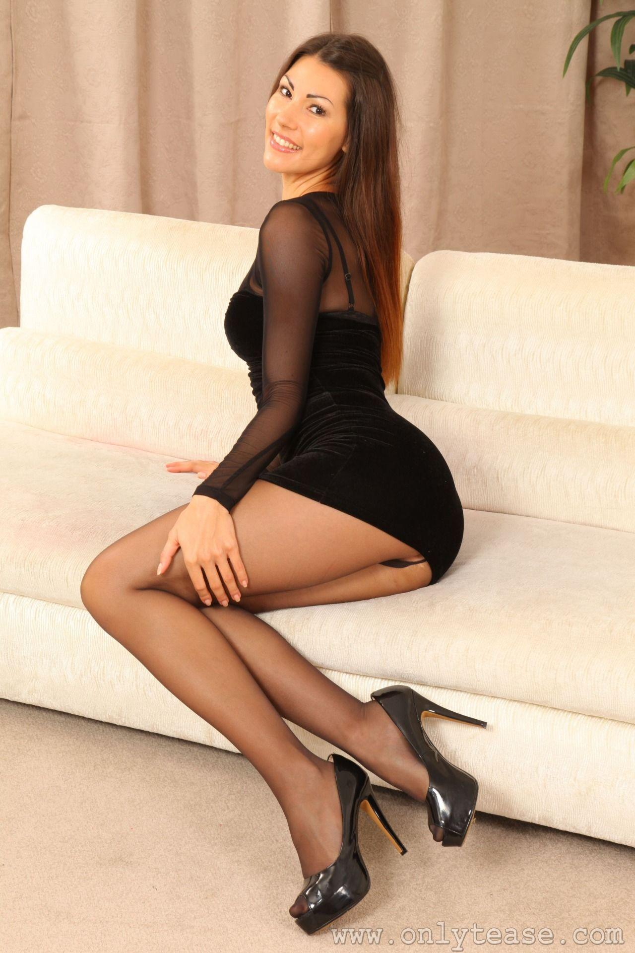 Nylons Short Skirt