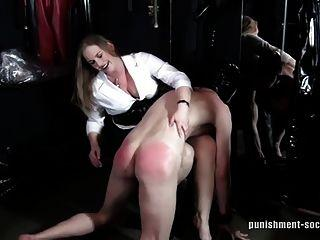 Spanked girl sex getting