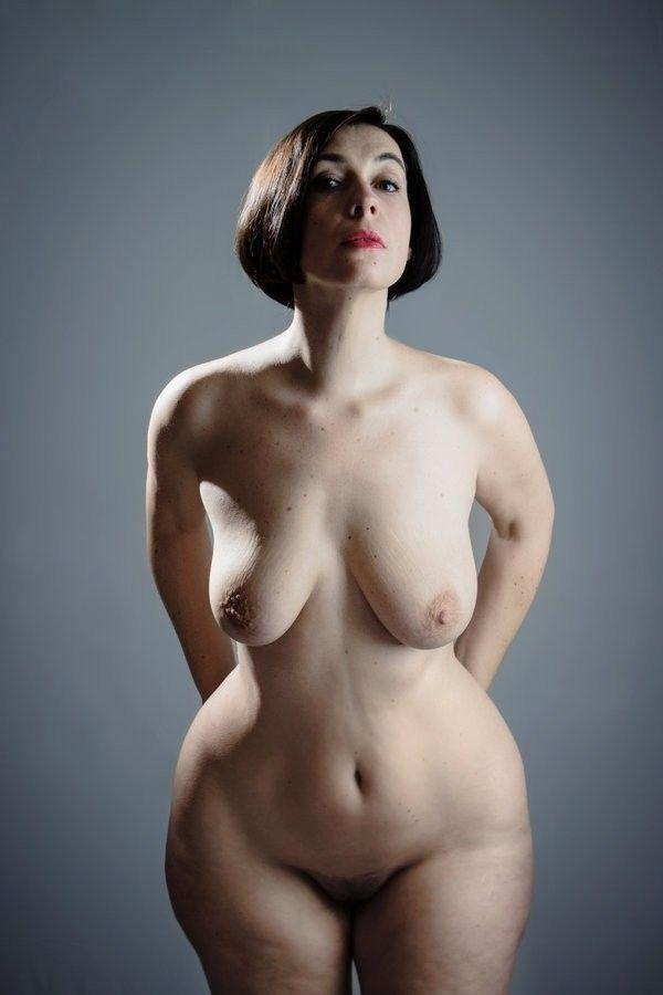 Artistic nude mature female