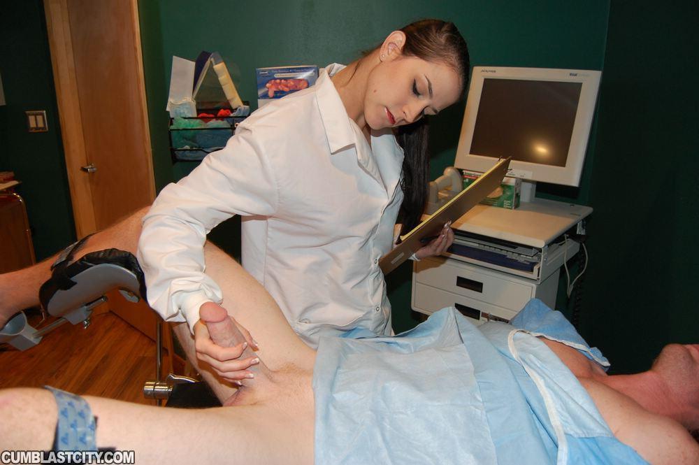 Nurse collects sperm