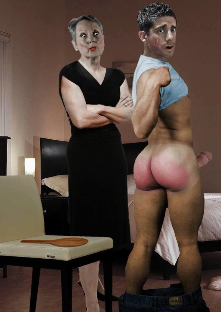 Old woman spank