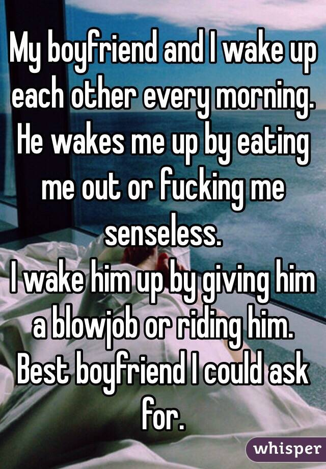 Waking up to a blowjob