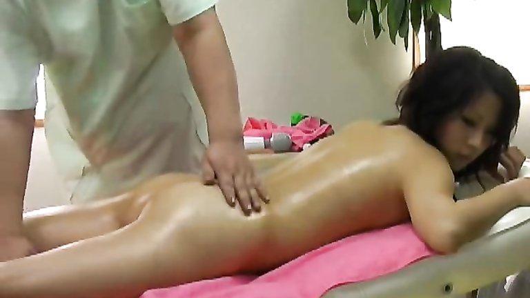 Asian oil massage sex piece