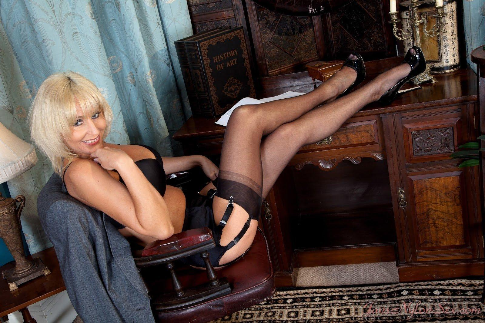 Theme, Mature nylon stocking sex not