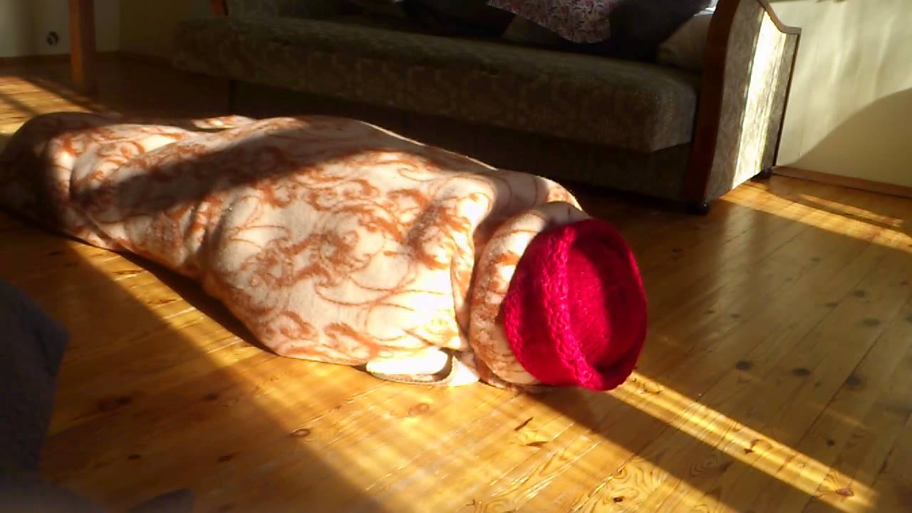 Wool blanket bondage and mummification